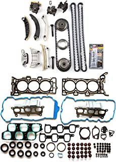ECCPP Engine Timing Chain Kit Head Gasket Set for 07-08 Buick Enclave GMC Acadia Saturn Outlook 3.6L