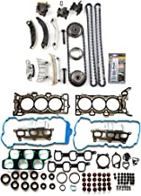 ECCPP Engine Timing Chain Kit Head Gasket Set for 07-08 for Buick Enclave GMC Acadia Saturn Outlook 3.6L