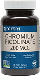 MRM Chromium Picolinate Capsules, 200 mcg, 100-Count Bottle (Pack of 4)