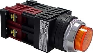 マルヤス電業φ25照光押ボタンSW突形 全電圧AC/DC24V LED照光(ピュアホワイト・ハイブライト)1a接点 A25 FA24 10PWLH