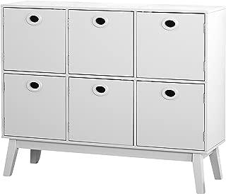 The Mezzanine Shoppe Jamie Modern 6 Door Storage Kitchen Cabinet, 39.4