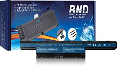 BND Laptop Battery for Gateway AS10D31 AS10D51 AS10D56 AS10D75 AS10D81 AS10D61-12 Months Warranty [6-Cell 4400mAh/49Wh]