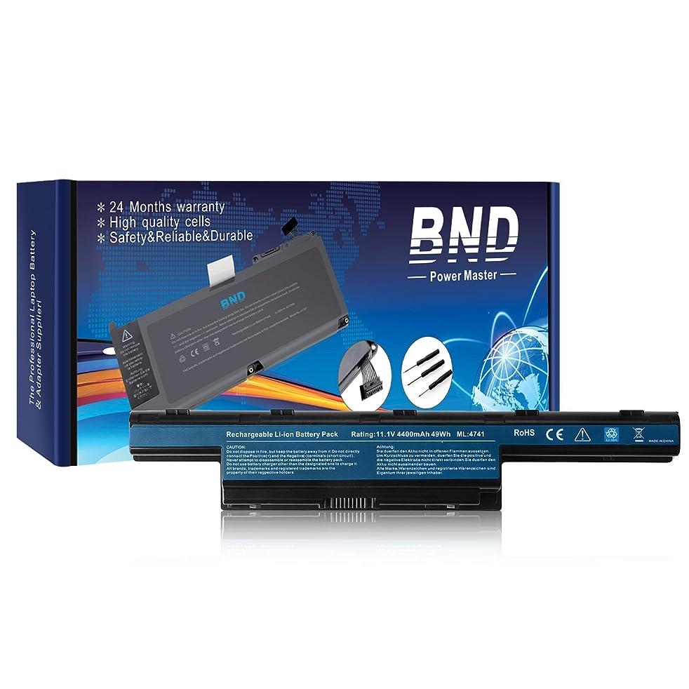 BND Laptop Battery for Acer/Gateway NV55C NV59C NV50A NV53 NV53A NE56R41U NE56R31U NV55C03U NV53A24U NV56R - 12 Months Warranty [6-Cell 4400mAh/49Wh]