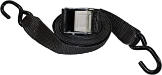 Gunwale Straps - SGT KNOTS - Marine Trailer Tie Down Accessories for Boats - Heavy Duty Cam Buckle Transom Strap - Zinc Plated Hooks - Durable Webbing - Trailer to Boat Safety Tie Downs with Hook