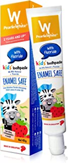 Pearlie White Enamel Safe Kids' Toothpaste with Fluoride, 45g