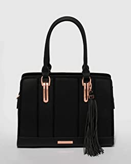 Black Tracy Paneled Tote Bag