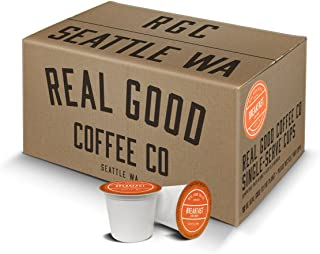 Real Good Coffee Co Breakfast Blend Light Roast Coffee K Cups, 72 Count, Recyclable Single Serve Coffee Pods for Keurig K Cup Brewers
