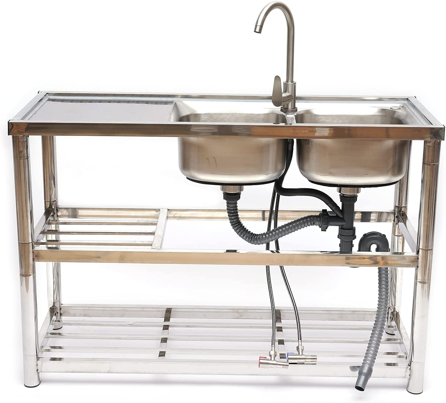 2 Compartment Stainless Steel Utility Sink P Boston Mall Kitchen specialty shop Commercial