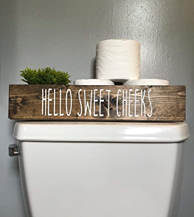 Cotton & Grain Hello Sweet Cheeks Bathroom Toilet Storage Toilet Paper Holder