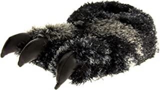 Dunlop Mens Faux Fur Monster Claws Novelty Slippers