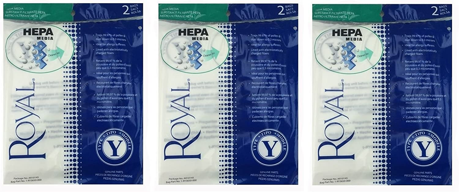 Royal Genuine Super intense SALE Type Y HEPA Commercial 6 pack New Shipping Free Shipping Bags