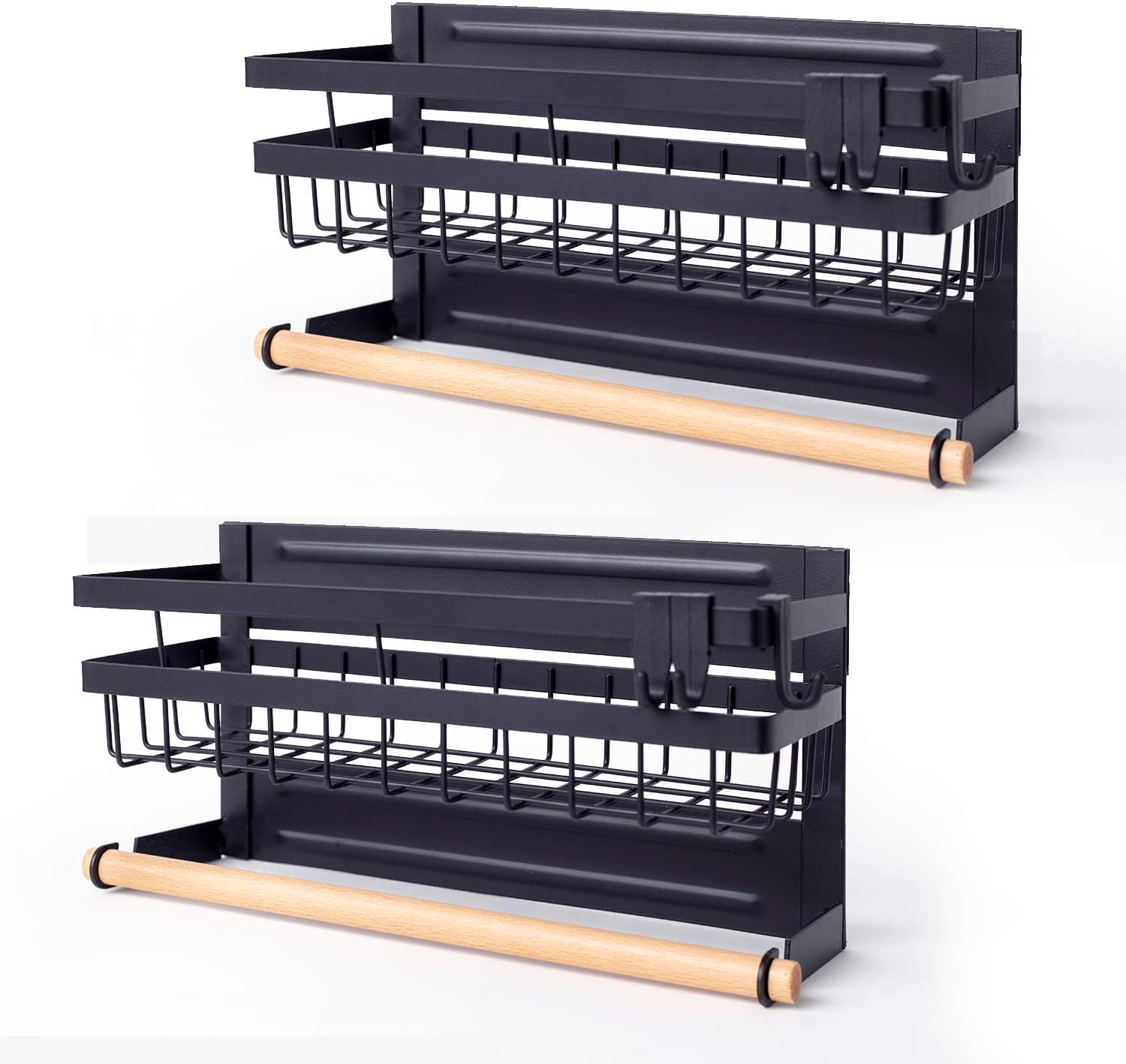 Sleclean Magnetic Spice SALENEW very popular! Rack Organizer of Genuine Free Shipping for Refrigerator Pack