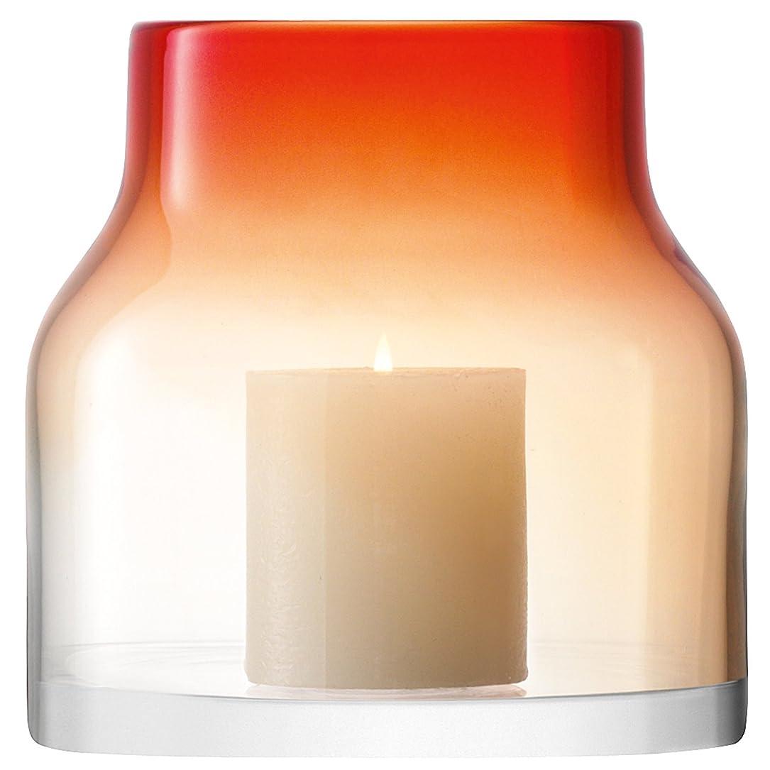 ひまわり眼チキンLSA(エルエスエー) フラワーベース(花器)/ランタン レッド 高さ17.5cm LOFT(ロフト) G1112-18-522