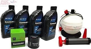 KAWASAKI Jet Ski Oil Change Kit w/OEM Filter 2011-2019 STX-15F 16097-0007 W61020-203A with Fluid Oil Extractor Pump
