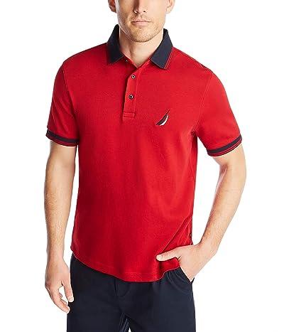 Nautica Short Sleeve 100% Cotton Tipped Polo Shirt