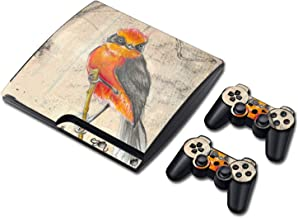 Decal skin cover Sticker vinyl pvc For Playstation 3 Slim console and controllers for PS3 slim,0803