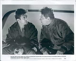 Vintage Photos 1988 Press Photo Actors Mel Gibson, Raul Julia in Film Tequila Sunrise