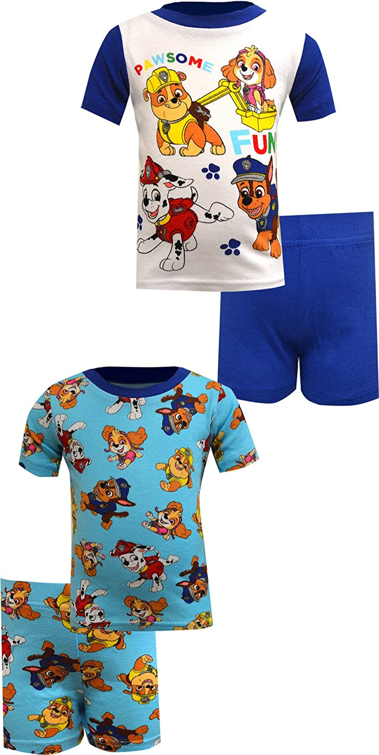 Fort Worth Mall AME Sleepwear Boys' Challenge the lowest price of Japan ☆ Paw Patrol Pawsome Cotton 4 Piece Fun Infant