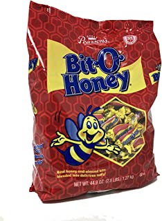 Pearson's Bit-O-Honey Original | Sweet Taffy Treats Made with Real Honey and Almond Bits | (44.9 Ounce Bag)