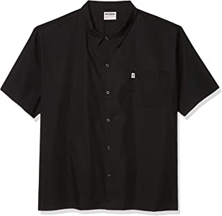 Uncommon Threads Unisex Short Sleeve Utility Chef Cook Shirt with 6 Snap Buttons