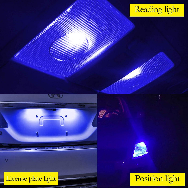 YaaGoo Compact Small bulb License Plate Lights Lamp,T10 168 194 2825 W5W,green,2pcs