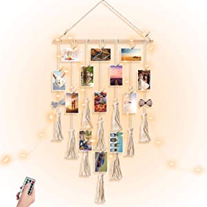 JOBOSI Clip Photo Holders Boho Bedroom Decor Teenage Girl Room Decor Birthday Gifts for Grandma Gift for mom Grandma's Gifts - from Granddaughter and Grandson - Nana Grandmothers Photo Holder