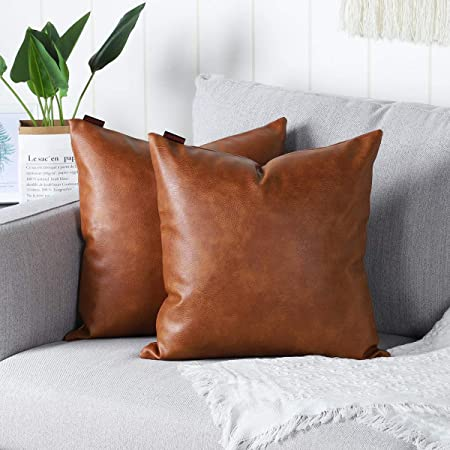 Scales Brown European Sham For Couch Bed Art Leather Pillow Sham Cover In Tan Color Decorative Throw Pillow Sham Covers 24x24 Inches