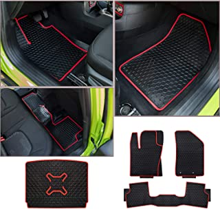 Pack of 4 Bonbo Floor Mats for Jeep Renegade 2015-2019,Custom Fit,Front and Rear Seat Floor Liner Mats,Rear Cargo Liner,Heavy Duty Rubber,Odorless,All Weather Guard