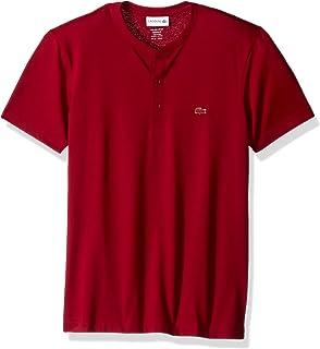Lacoste Men's Short Sleeve Henley Jersey Pima T-Shirt