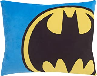 Batman - Blue, Yellow & Black Decorative Toddler Pillow, Blue, Yellow, Black
