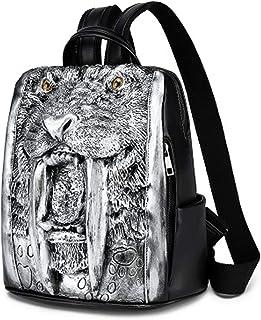 qwerasdf Mochila para mujer, bolso de mochila animal tridimensional en relieve de moda, mochila antirrobo