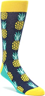 Statement Sockwear Pineapple Tropical Fruit Men's Dress Socks
