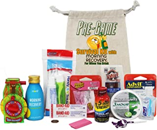 Pre-Game Hangover Survival Kit Pre-Filled with Morning Recovery Hangover Drink and Necessities for The Night Before & Morning After. 21st Birthday, Bachelor, Bachelorette Party Favors, Personalized