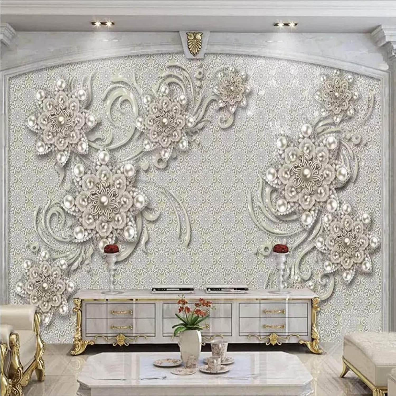 70% de descuento Lifme Estilo Europeo Mural Papel 3D Flor Joyería Joyería Joyería Imagen Papel De Parojo Sala De Tv Sofá Fondo Pintura De Parojo De Lujo 3D Cool-200X140Cm  envío rápido en todo el mundo
