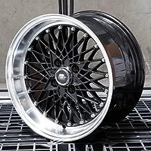 MST WHEELS MT16 Rim 15x8 4x100 Offset 20 Black/Machined Lip (Qty of 1)
