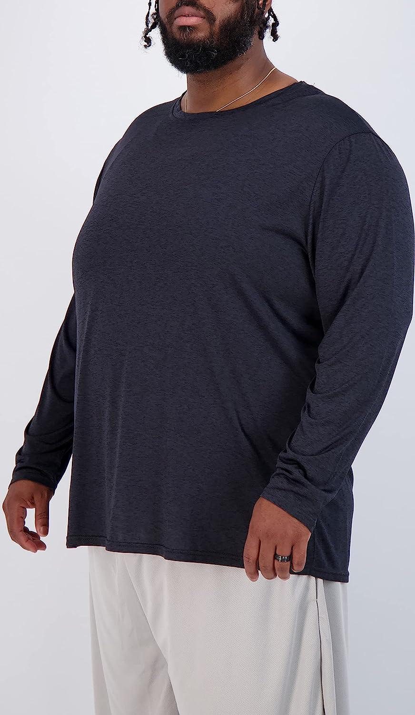 3 Pack: Men's Big & Tall Tech Stretch Long-Sleeve & Short-Sleeve Dry-Fit T-Shirt