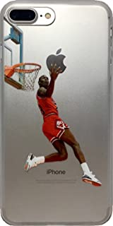 Soft TPU Basketball Case with Your Favorite Past and Present Players (Jordan Reverse Dunk, iPhone 7 Plus)