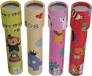 Hakka 4Pcs万華鏡おもちゃミラーレンズ万華鏡キッズ教育科学発達玩具万華鏡スコープ