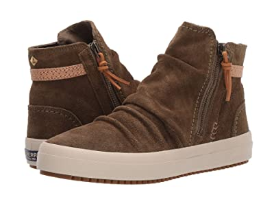 Sperry Crest Lug Zone Suede (Olive) Women