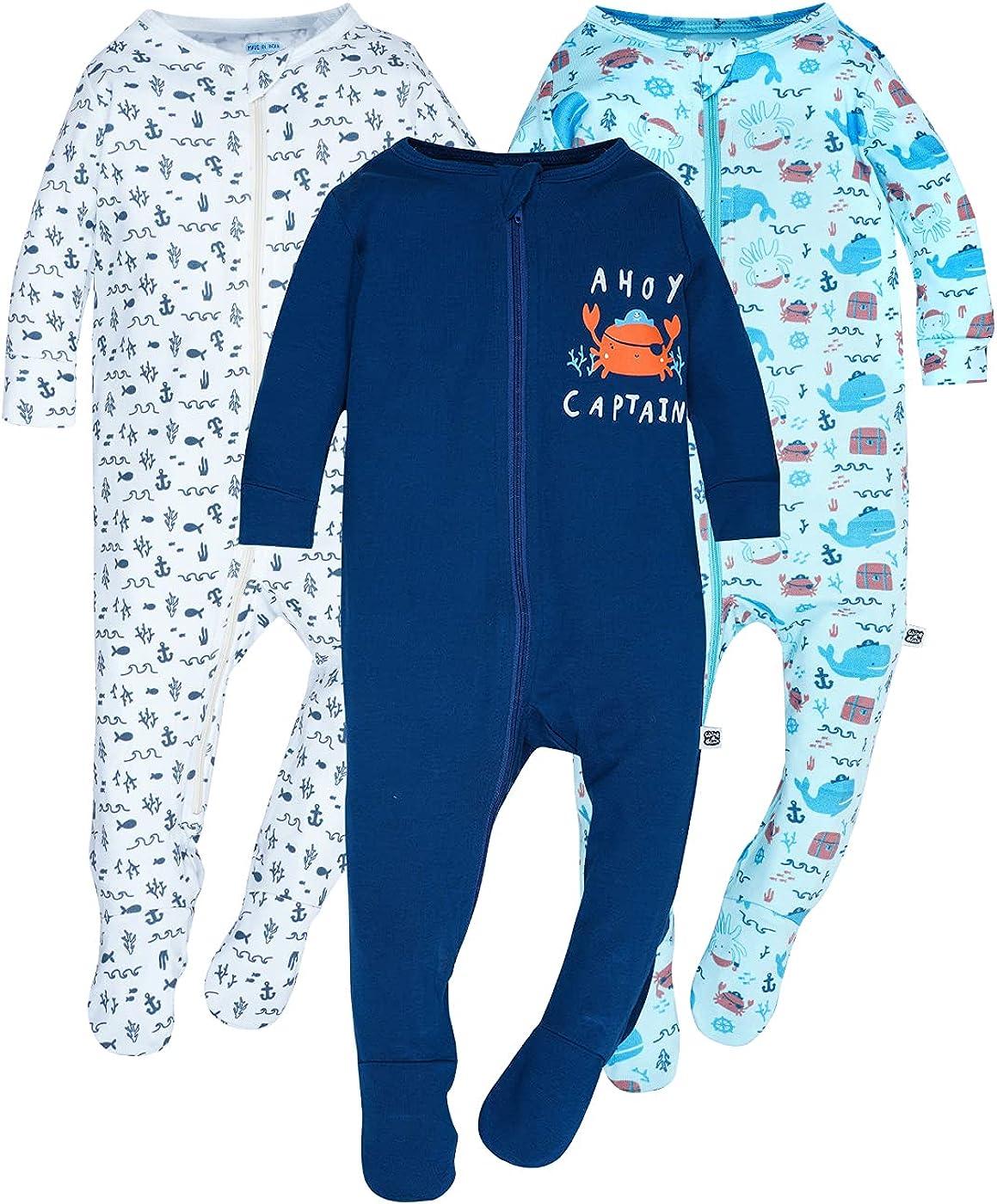 Rapid rise WINK BLINk Ahoy Captain Free shipping Organic Baby Sleep Jum Play 3-Pack N'
