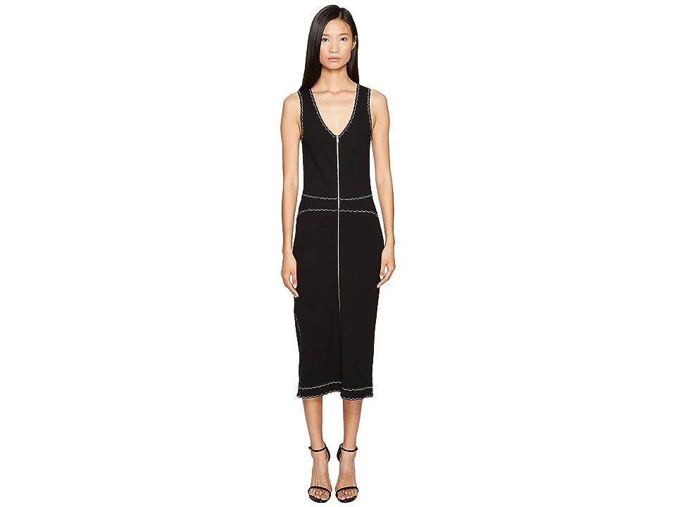 McQ Contrast Tank Dress (Darkest Black) Women