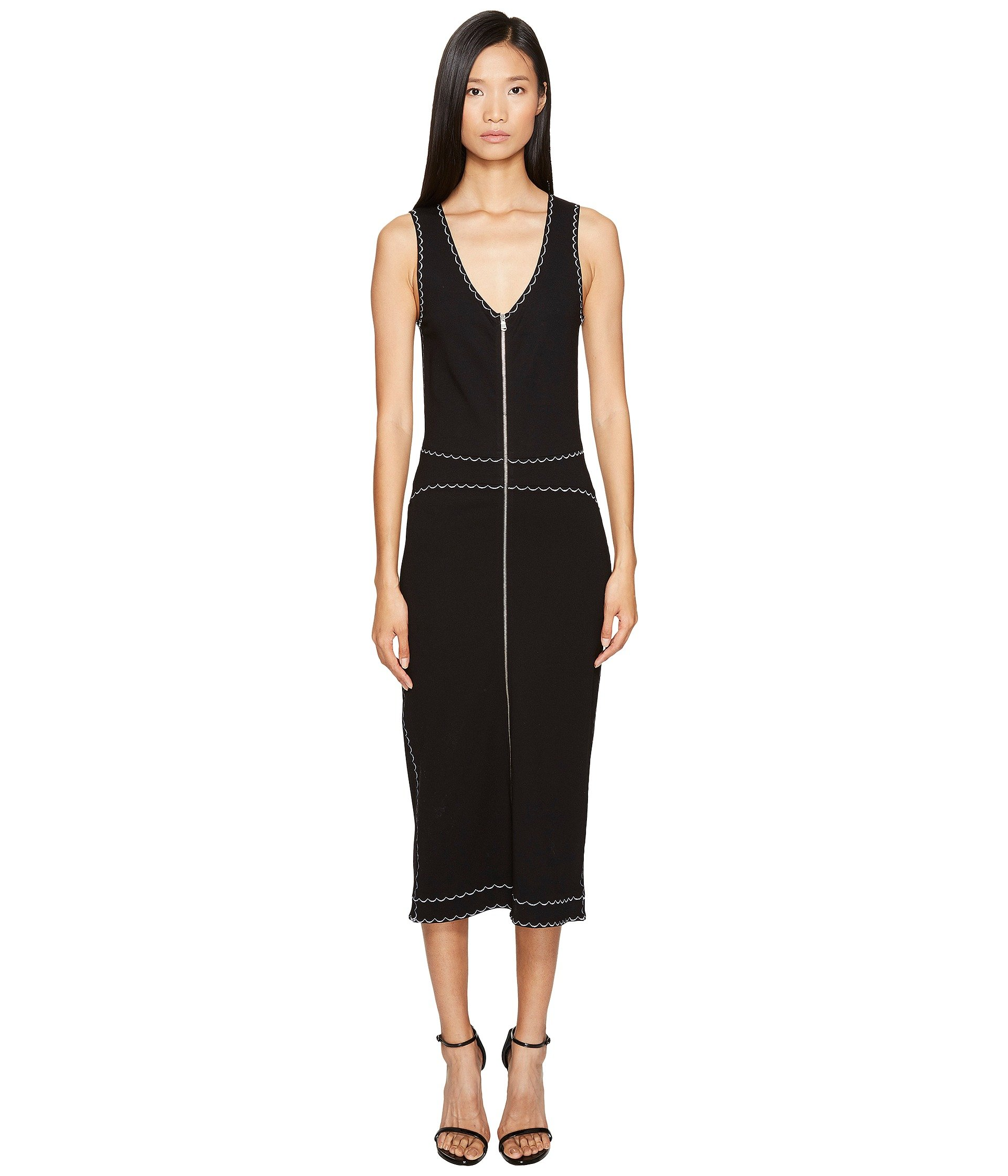 Mcq Alexander Mcqueen Woman Embroidered Ponte Midi Dress Black Size L Alexander McQueen yR3D7LG