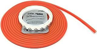 JNK NETWORKS 16ft U Shape Car Door Edge Guard Trim Universal Fit Silicone Seal Protector (Orange)