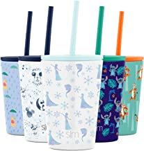 Simple Modern Disney Water Bottle for Kids Reusable Cup with Straw Sippy Lid Insulated Stainless Steel Thermos Tumbler for...