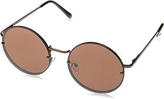 Óculos de Sol Didier, Les Bains, Redondo, Feminino, Ouro, Único