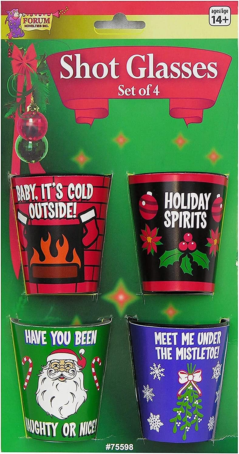 Limited time trial price At the price of surprise Forum Novelties G-Rated Christmas Glasses Plastic Shot Multico