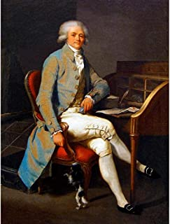 Wee Blue Coo Painting Portrait Boilly Lawyer Maximilien Robespierre Art Print Poster Wall Decor 12X16 Inch