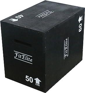FitElite(フィットエリート) ウッドプライオボックス3 in 1【組立不要】(ジャンプボックス・昇降台・ジャンプ台・ステップ台)