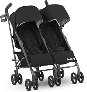 JOOVY Twin Groove Ultralight Umbrella Stroller, Black