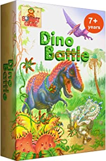 Dino Battle - Exciting Dinosaur Games of Logic and Fun for Kids 7 and Up. Award Winning Family Board Game for 2-4 Players....